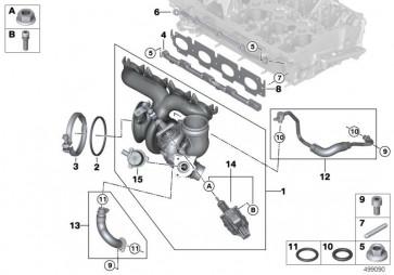 Turbolader mit Abgaskrümmer (11658658211)