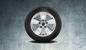 MINI Alufelge 5-Star Air Spoke silber 140 6,5J x 16 ET 46 Vorderachse / Hinterachse MINI R60 R61