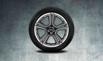 MINI Alufelge 5 Star Double Spoke R127 7,5J x 18 ET 52 Anthrazit Vorderachse / Hinterachse MINI R60 R61
