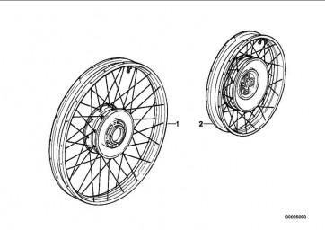 Speichenrad hinten Scheibenbremse 4,00X15          (36317683248)