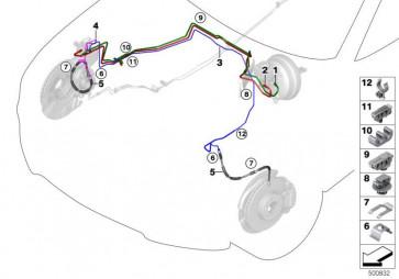 Rohrleitung-DSC Hydroaggregat- M10-M10         (34326859921)