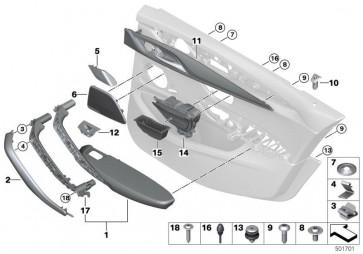 Blende Lautsprecher Mittelton rechts B & W (65136824626)