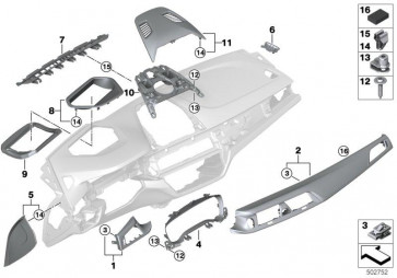Blende I-Tafel Alu Carbon Fahrer PERLGLANZ CHROM (51458068796)