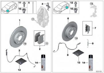 Reparatursatz Bremsbeläge asbestfrei HA (34206885600)