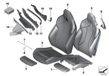 Bezug Oberschenkelauflage Leder MAGMAROT (52107499921)
