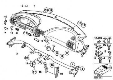 Verkleidung Instrumententafel SCHWARZ         Z3  (51458399915)