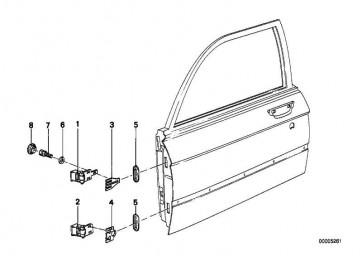 Sechskantschraube mit Scheibe M8X25-Z4 5er 3er  (07119915083)