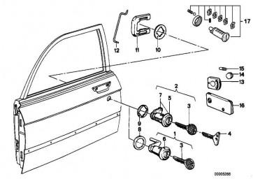 Reparatursatz Schliesszylinder *CODE 2900      5er  (51219556319)