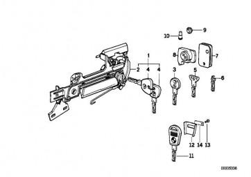 Reserveschlüssel (Code)  5er 7er 8er Z1  (51211950663)