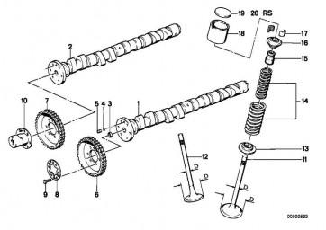 Kettenrad Auslass  3er  (11311312535)
