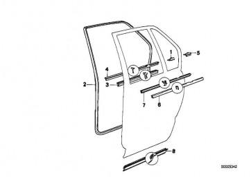 Brustleiste hinten rechts CHROM           5er  (51221944718)