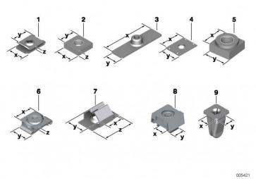 Presslochmutter ST3,5-2         1er 2er 3er 4er 5er 6er 7er 8er X1 X3 X4 X5 X6 Z1 Z3 Z4 MINI  (07129926105)