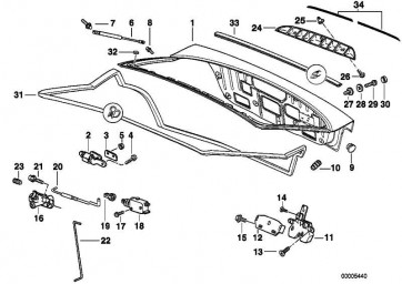 Kreuzschlitzschraube für Kunststoff TS 4X10         3er  (51131960840)