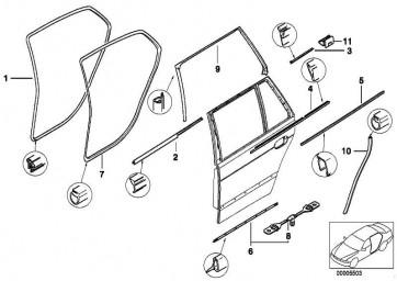 Kantenschutz hinten ANTHRAZIT       5er  (51727116407)
