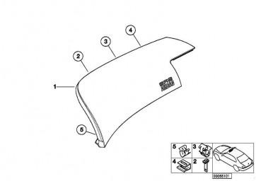 Airbagdeckel SCHWARZ         3er  (51457143229)