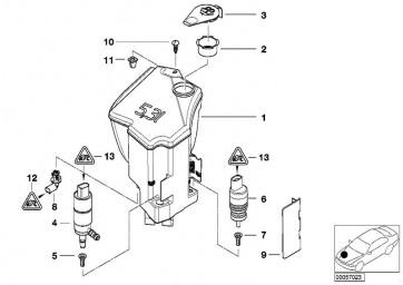 Behälter Scheinwerferwaschanlage (61677110854)