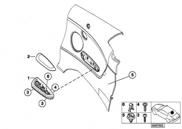 Armstütze Alu hinten links GRAU/SHADOW     3er  (51437895835)