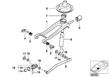 Schaltarm Doppelstrebe  3er  (25117521280)