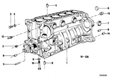 Zylinder-Kurbelgehäuse mit Kolben  6er 7er  (11111720653)