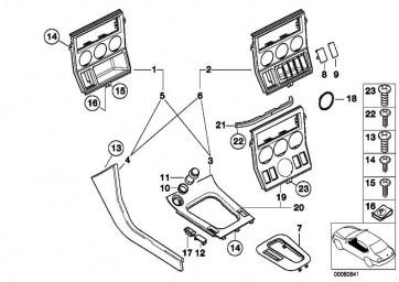 Blende Schalter WALNUSS         Z3  (51167028224)