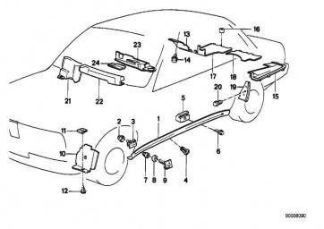Verkleidung Motorkabelbaum  3er  (51711380392)