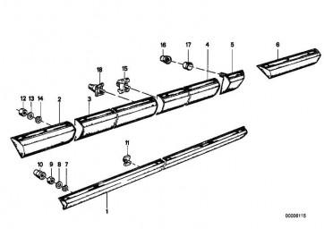 Stossleiste Seitenwand vorne rechts  7er  (51131848302)