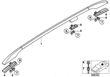 Unterlage Dachreling vorne links  X5  (51138269149)