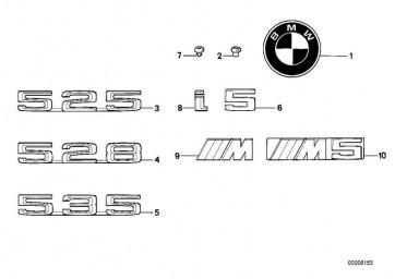 "Emblem geklebt ""525""           (51141917917)"
