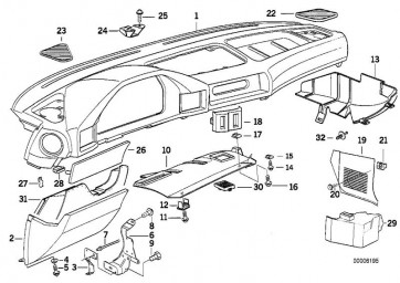 Verkleidung Instrumententafel SCHWARZ         (51451946992)