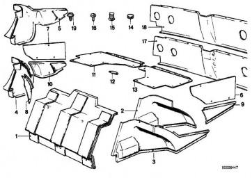 Verkleidung Trennwand Gepäckraum HELLGRAU        6er  (51461843836)
