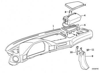 Deckel Instrumententafel Airbag PERGAMENT DKL. (51458168955)
