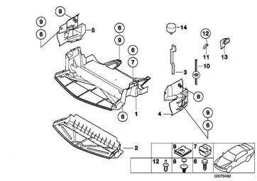 Abschirmung Motorraum/Luftführung  Z3  (51717027432)