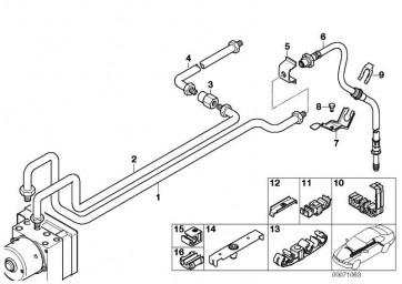 Rohrleitung M10/M12-3684MM  3er  (34326752409)
