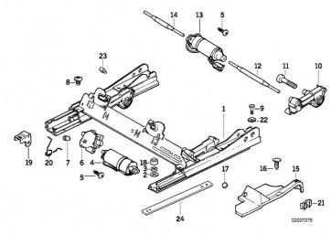 Getriebe Längsverstellung links (52108157463)