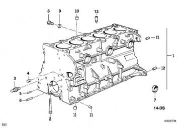 Zylinder-Kurbelgehäuse S50 VORG. 85,75 (11111417716)