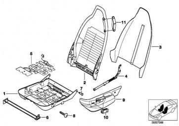 Knopf Sitzlängs- und Höhenverstellung  Z3  (61318410677)