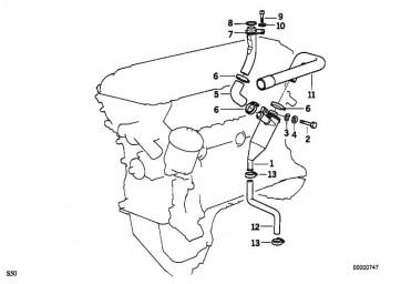 Entlüftungsrohr  3er Z3  (11151401194)