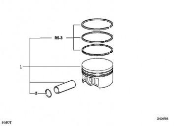 Reparatursatz Kolbenringe 86,015MM(00)    3er  (11251402395)