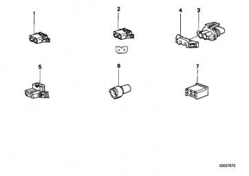 Buchsengehäuse grau 2 POL. 3er 5er 6er 7er X3 X5 Z4  (61138364498)