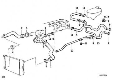 Schlauch Heizkörper-Motorrücklauf  3er  (11531317589)