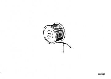 Kabel rot-schwarz 1,00 MM? 5er 3er 7er 6er  8er Z8 Z1 Z3  (61121391695)