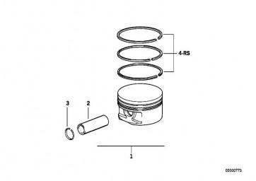 Reparatursatz Kolbenringe 84,500MM(+0,50) 3er 5er  (11251727464)