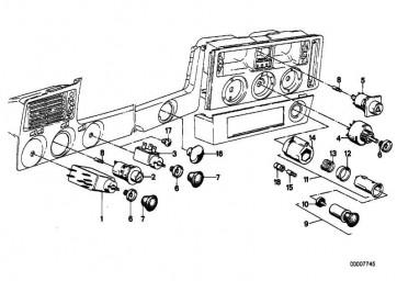 Schalter Warnblinker  3er 7er M1  (61311362052)
