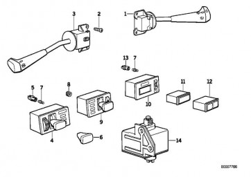 Schalter Blink-Abblend-Fernlicht  5er  (61311368258)