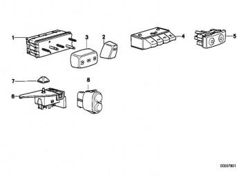 Schalter Sitzverstellung vorne rechts  3er 5er 7er 8er  (61318368934)