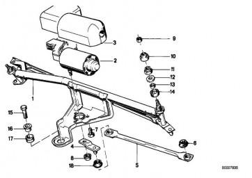 Faltenbalg Motorkurbel D=16MM          3er  (61611370649)