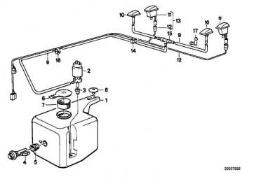Deckel für Scheibenwaschbehälter  1er 3er 5er 6er 7er 8er X1 X3 X5 X6 Z3 Z4 Z8 MINI  (61667264145)