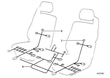 Kabelsatz Sitz/Spiegel/Lenksäulen Memo. (61121392700)