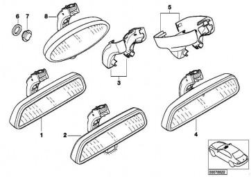 Innenspiegel EC / LED / ETC / Funk 315 MHZ 3er 5er X3 X5 Z4  (51169126903)