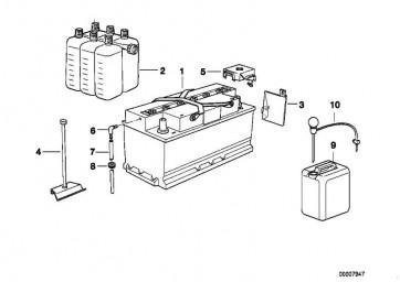 Abdeckung Batterie Pluspol  3er 5er 7er  (61218375653)